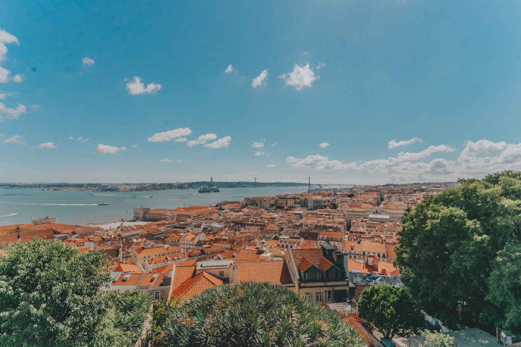 View of Lisbon from St. George Castillo