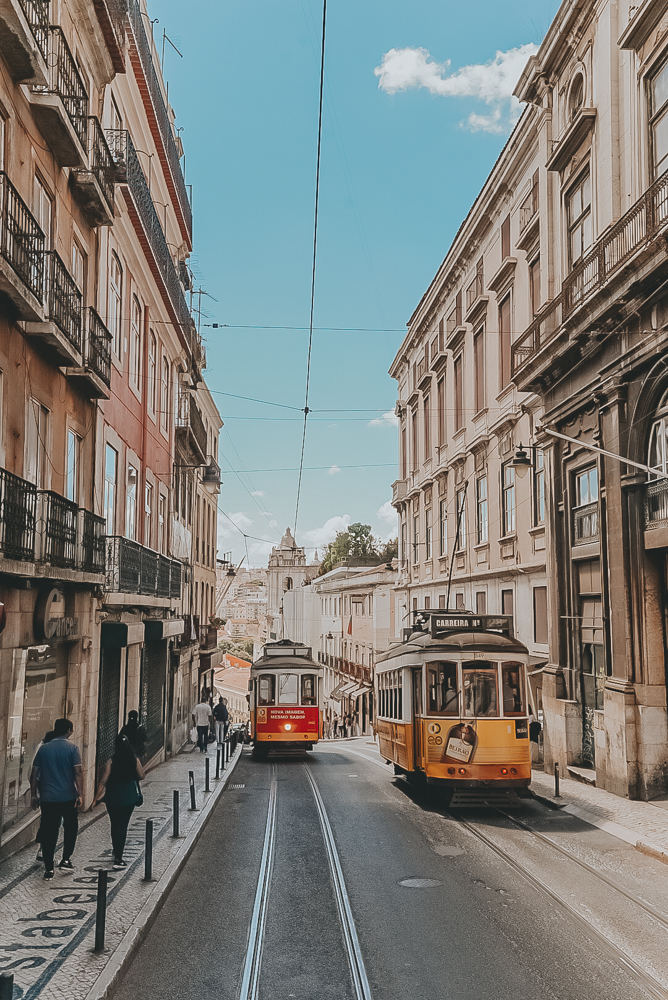 Lisbon Streets with Trolly